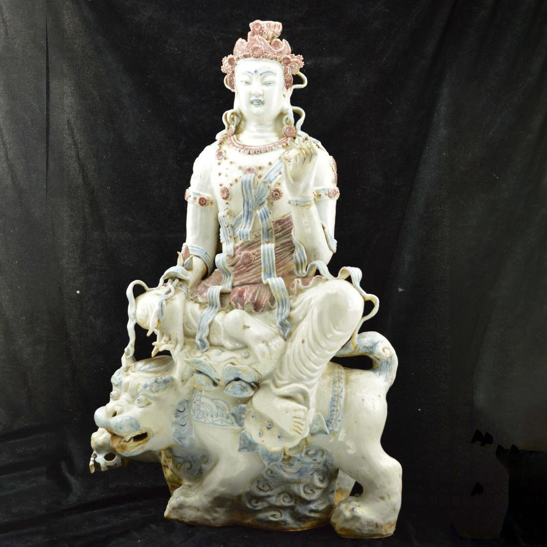 Samantabhadra Porcelain style statue
