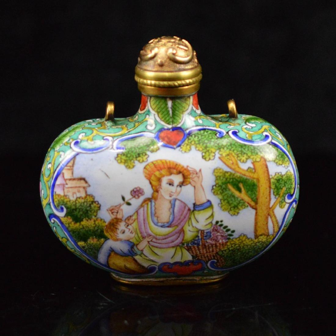 Cloisonne Enamel Snuff Bottle