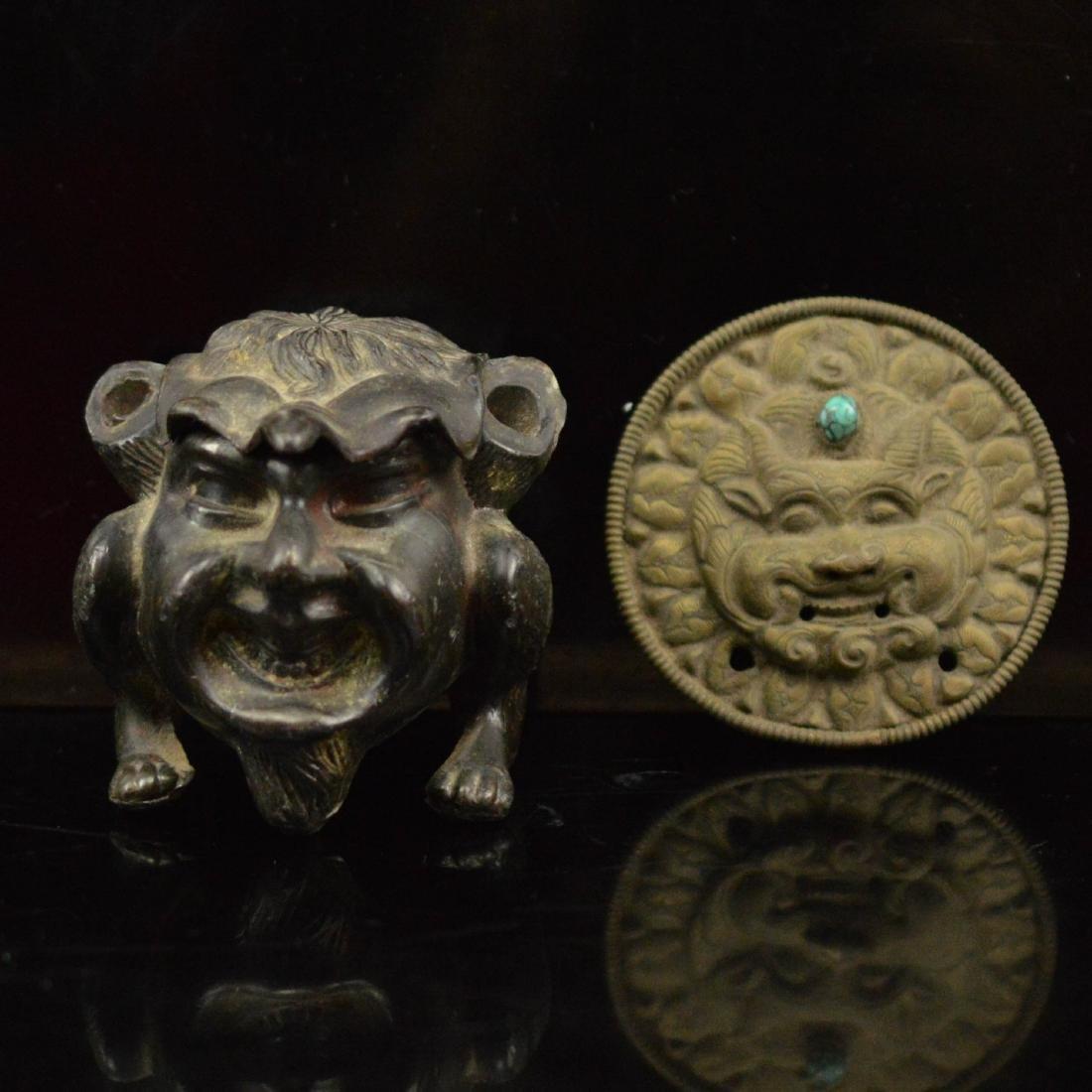 Old replica bronze pair