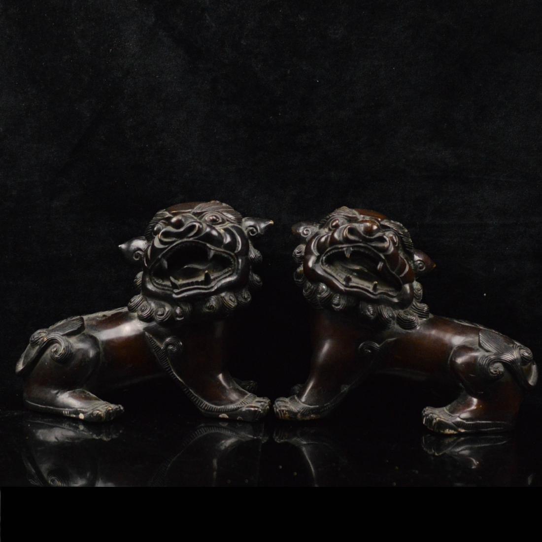 Bronze Lion Pair