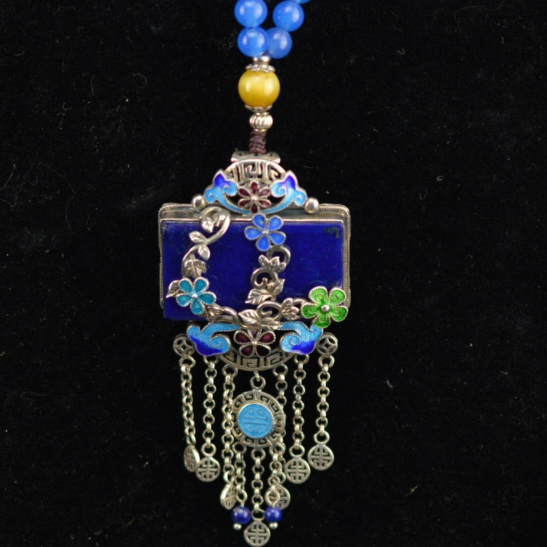 Lapis Lazuli Enamel necklace
