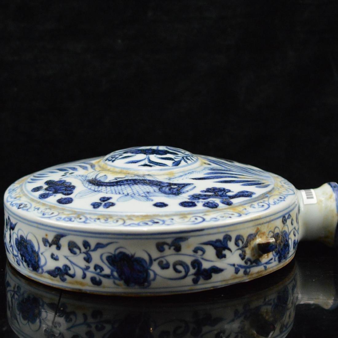 Blue and white wall porcelain vase