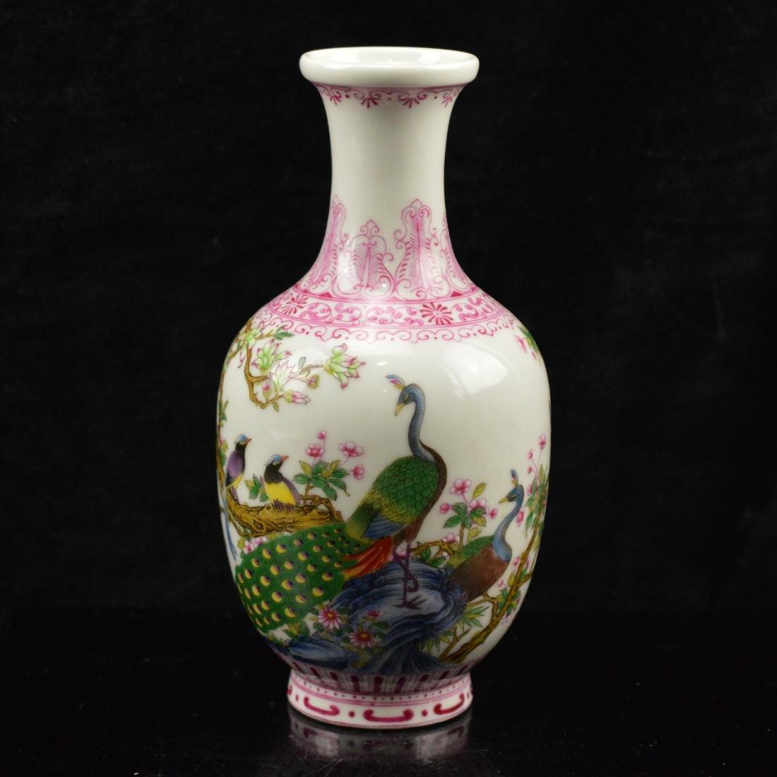 Yong Zheng Marked FenCai Porcelain vase