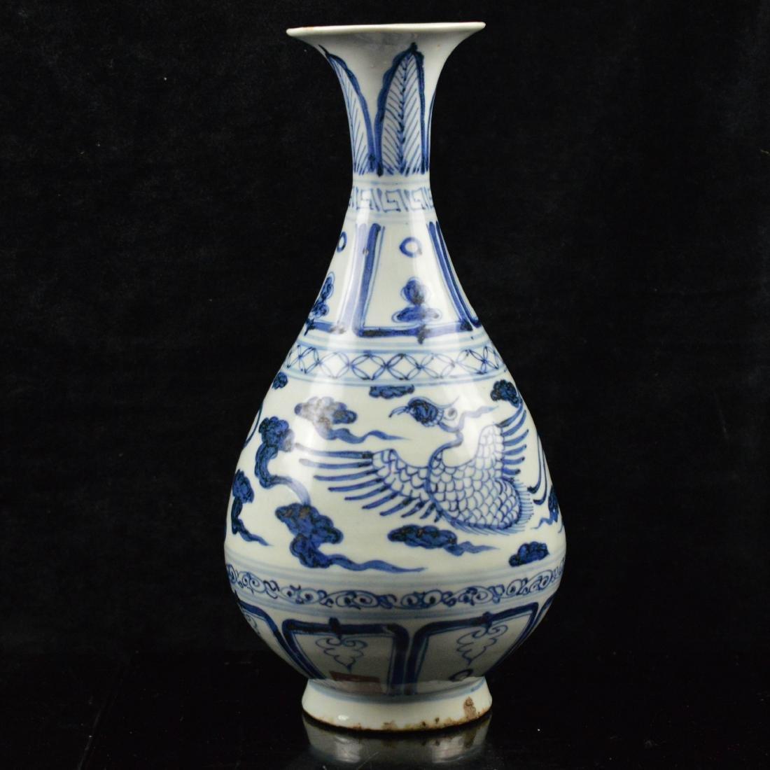 Restored Blue and white porcelain vase