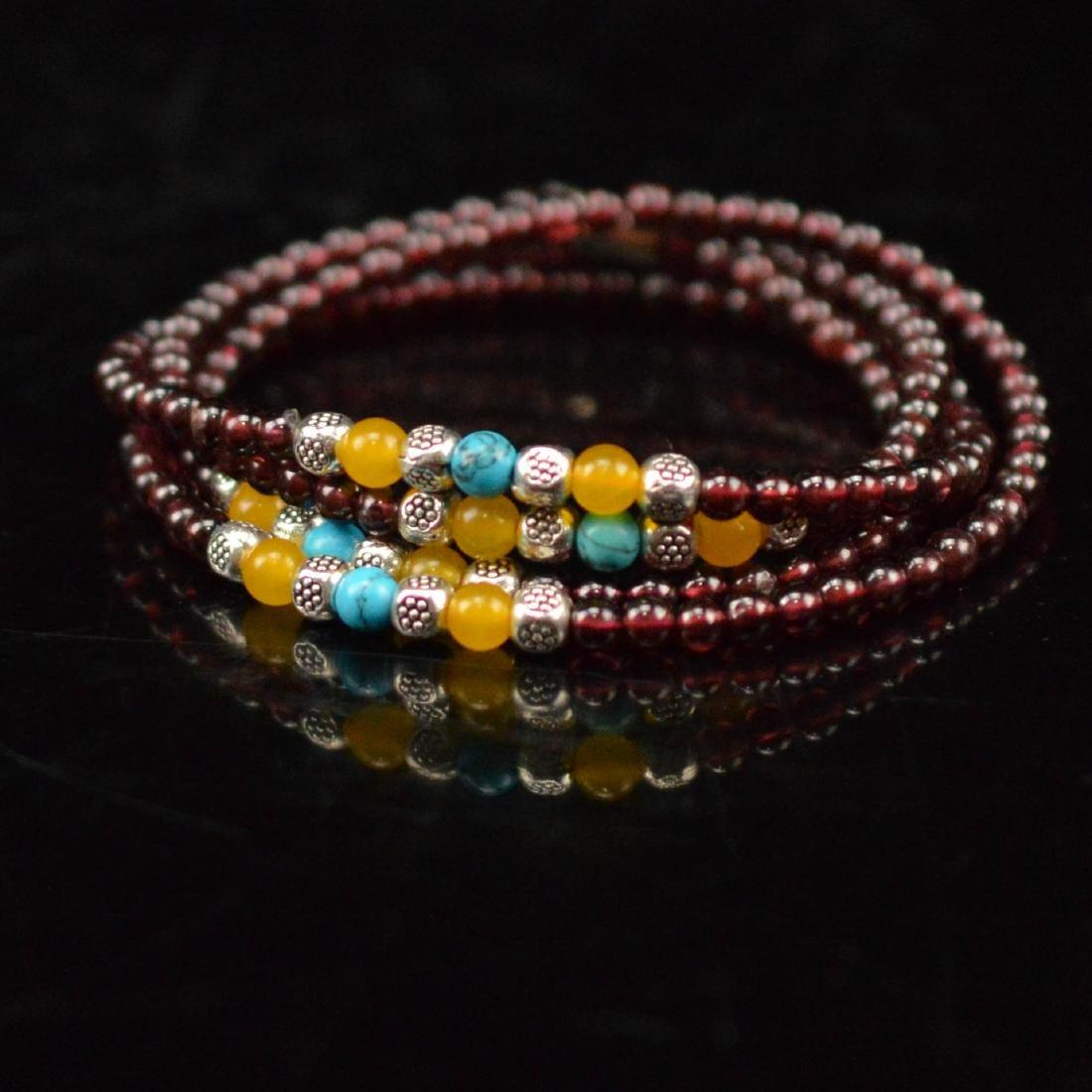 Natural Garnet beads bracelet