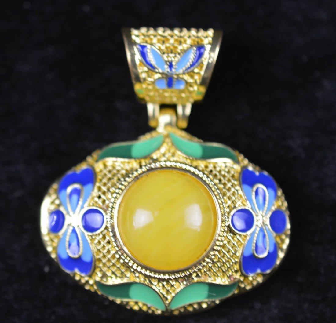 Royal amber pendant