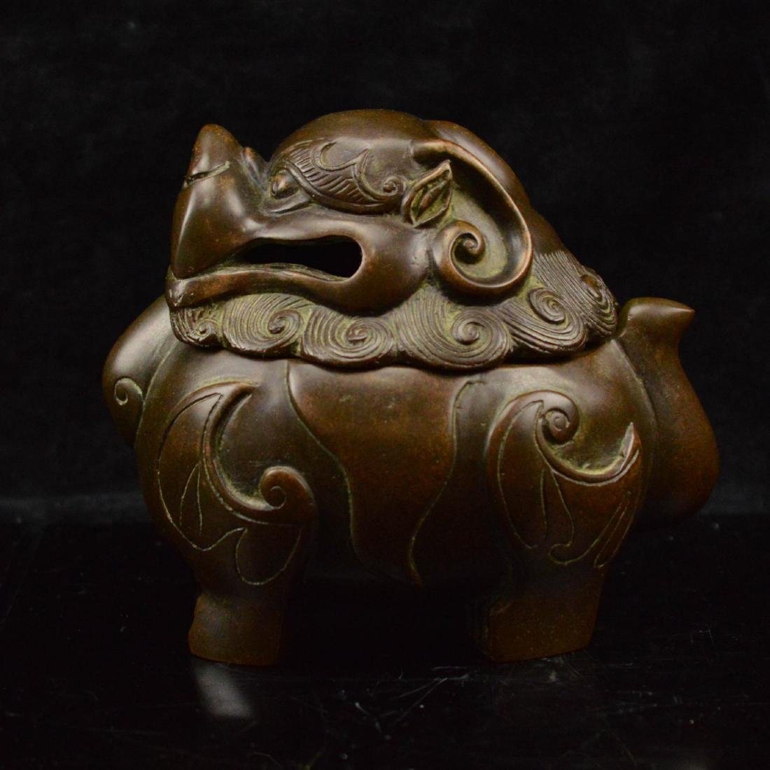 Lion Head incense Burner