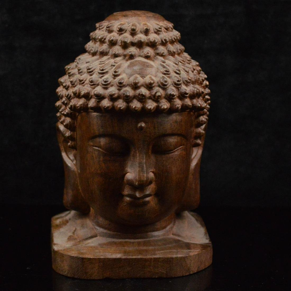Karin Wood carved buddha statue