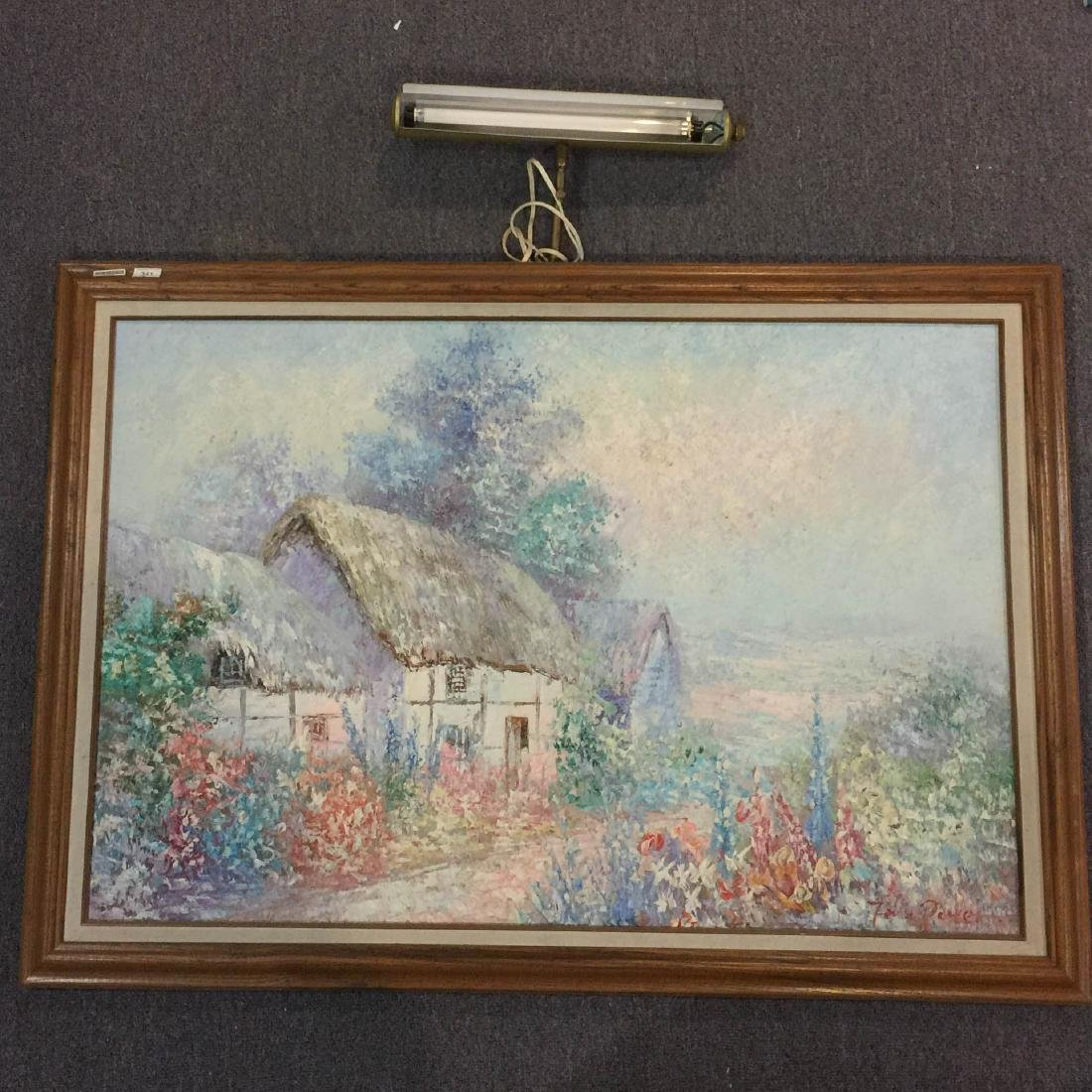 Framed Oil painting with light