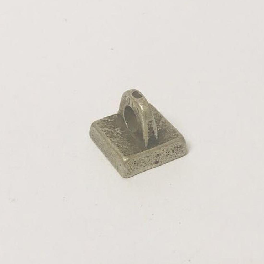 Qing Style white bronze Stamp