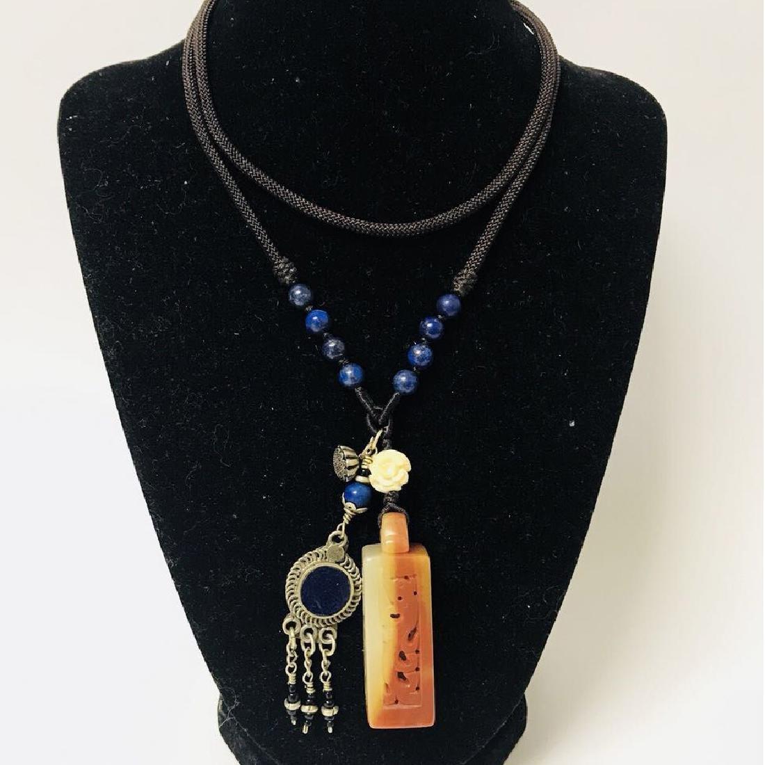 Openwork Jade carved Necklace