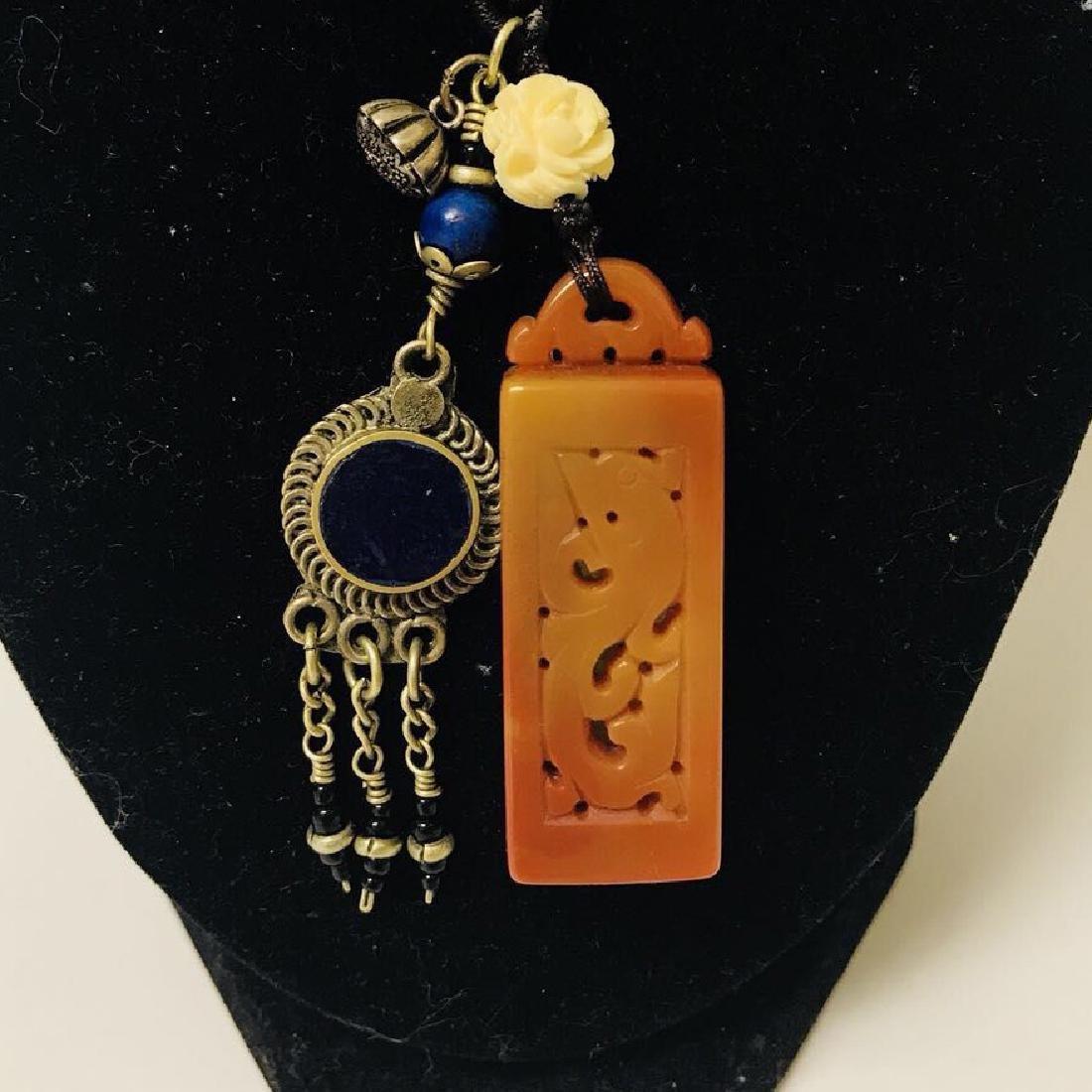 Openwork Jade carved Necklace - 2