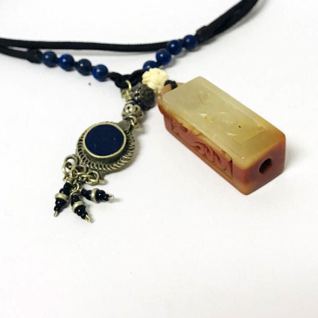 Openwork Jade carved Necklace - 3