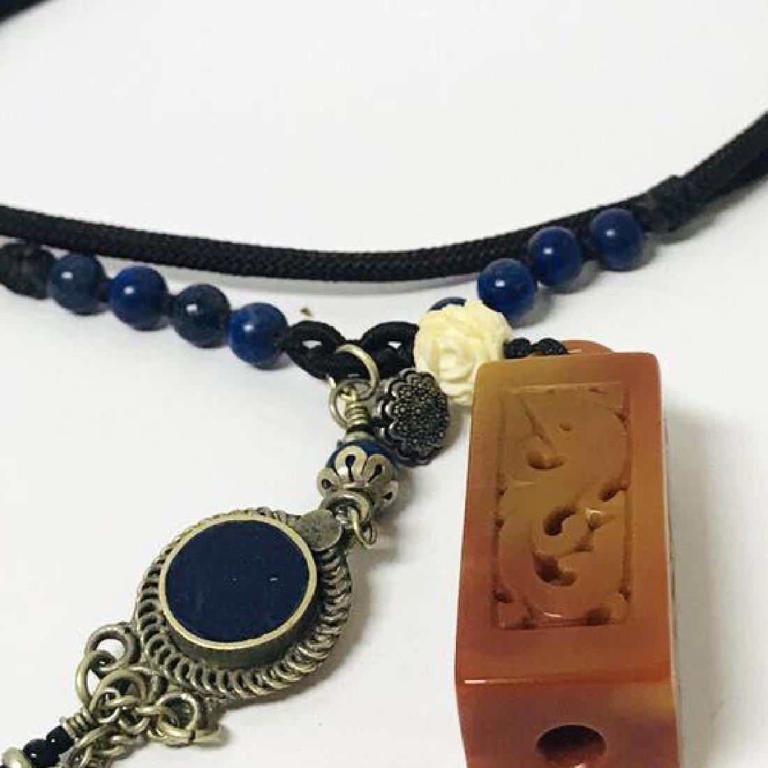 Openwork Jade carved Necklace - 5