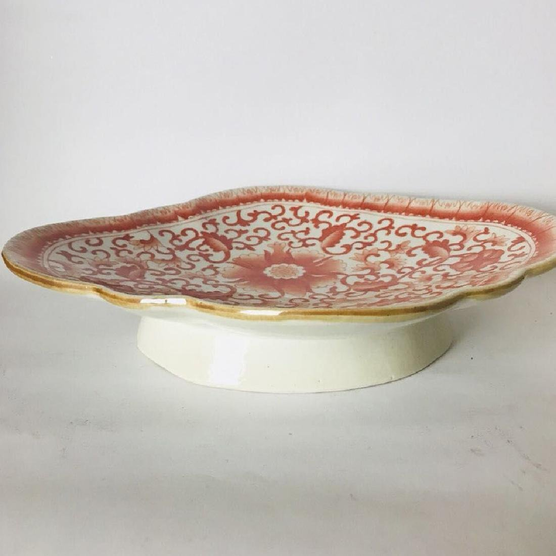 Red Underglazed Porcelain Plate
