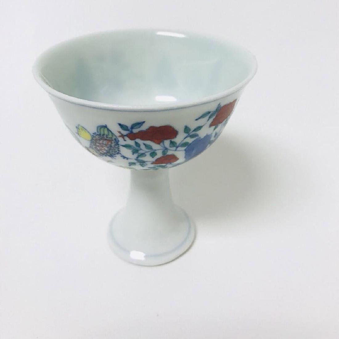 Da Ming Style High Porcelain Cup