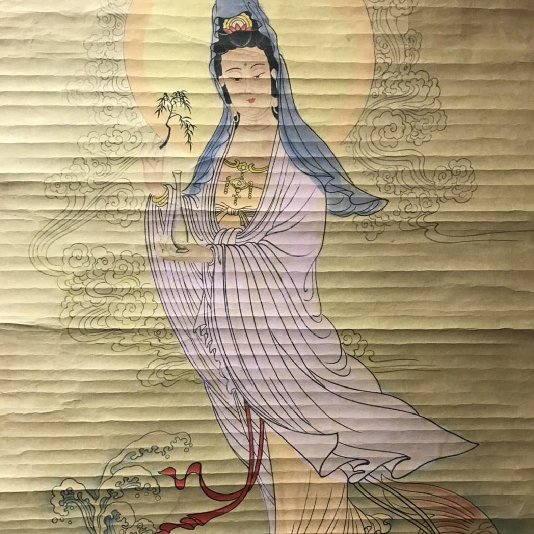Scroll Painting: Guan Yin - 4