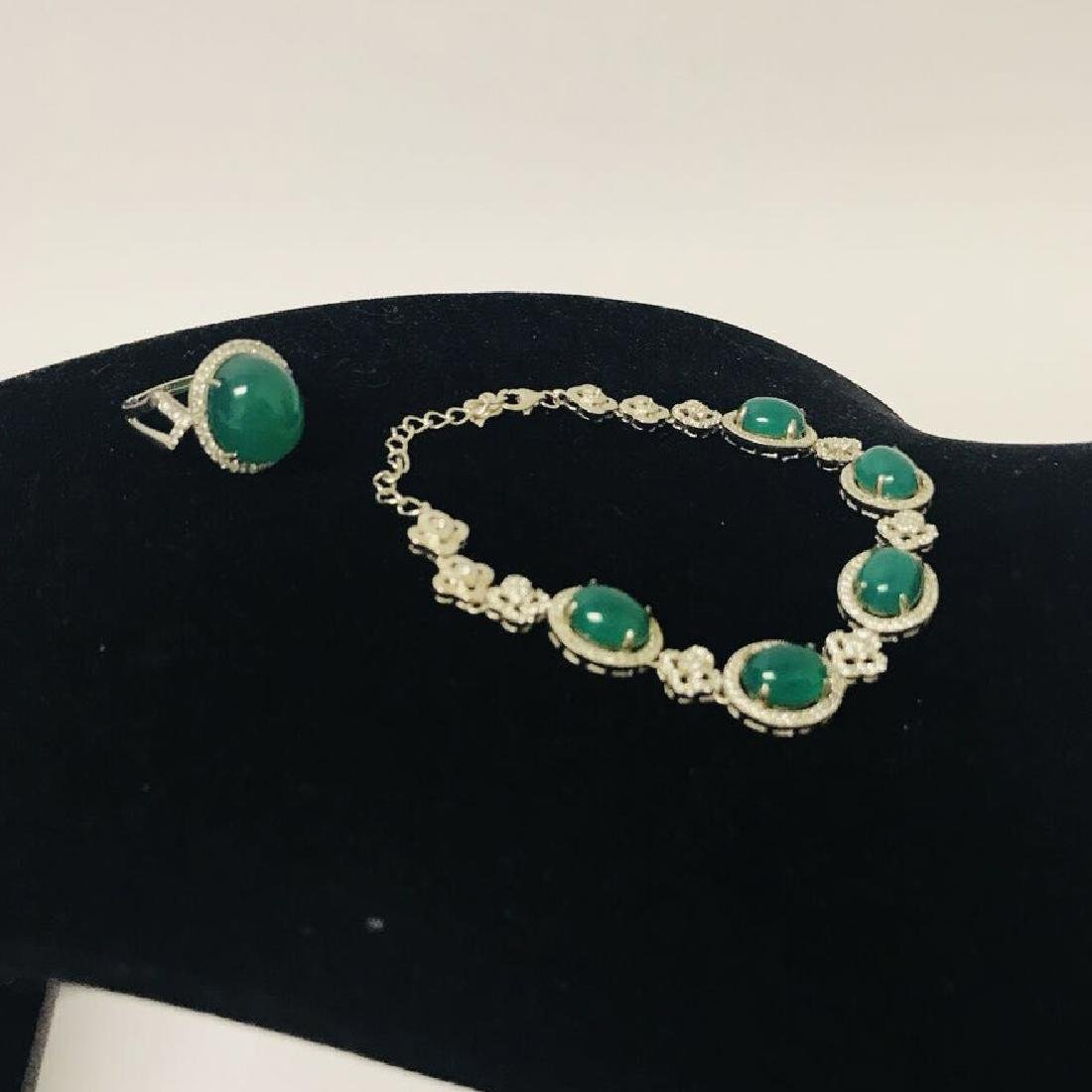 Green Agate Bracelet and Ring