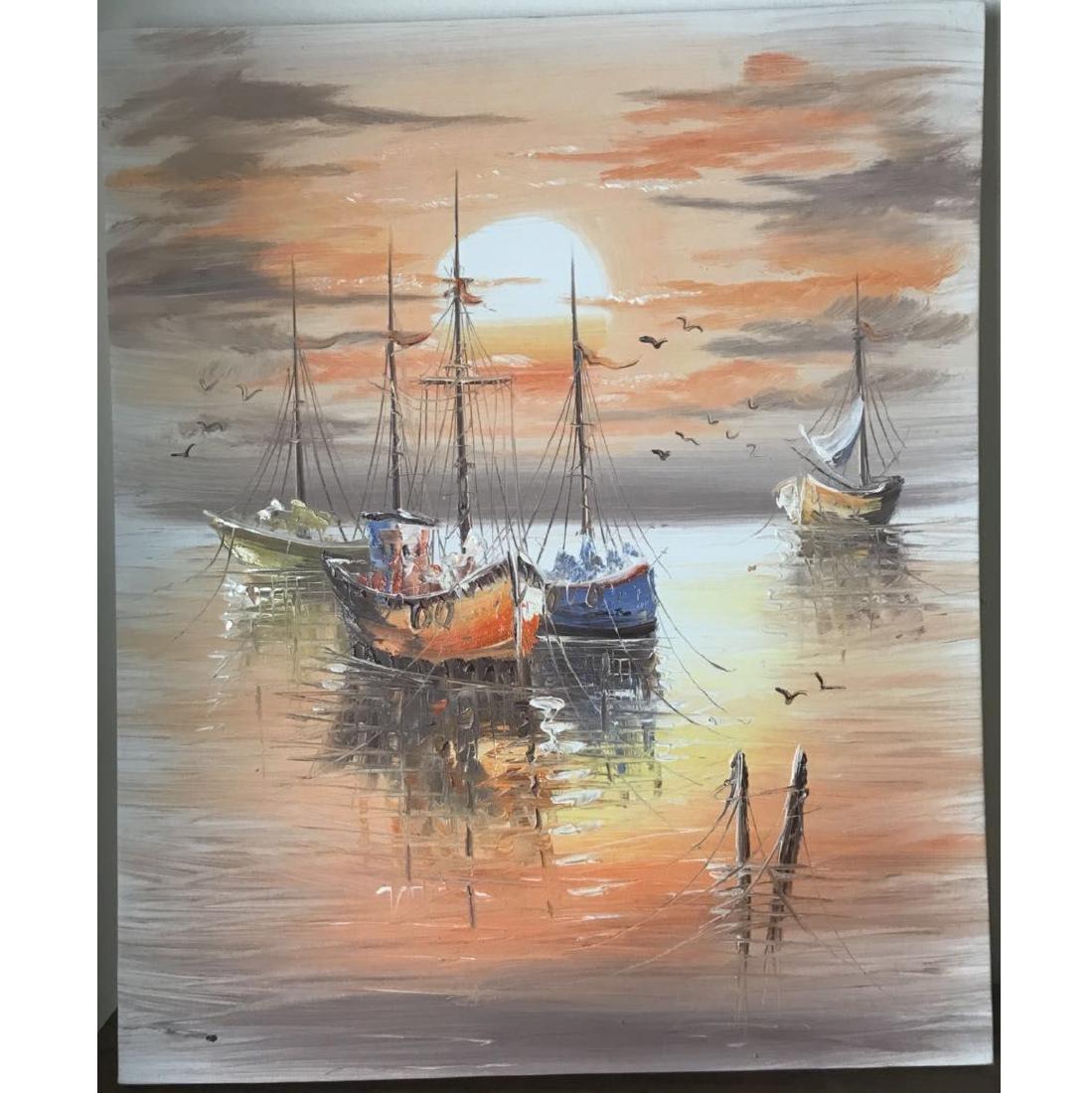 Sailboat Oil Paints