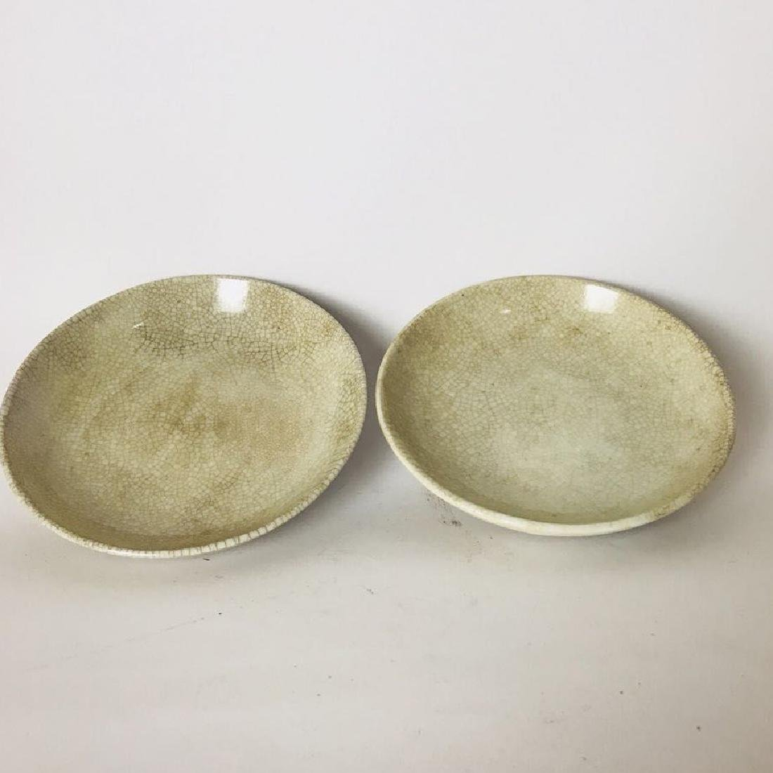 Pair of Ge Kiln Plate