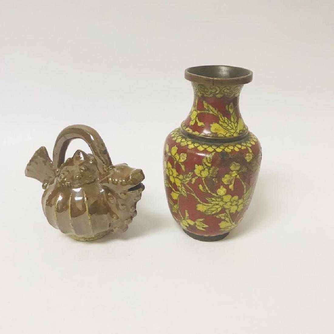 MingGuo waterpod and MingGuo Cloisonne Enamel mini Vase