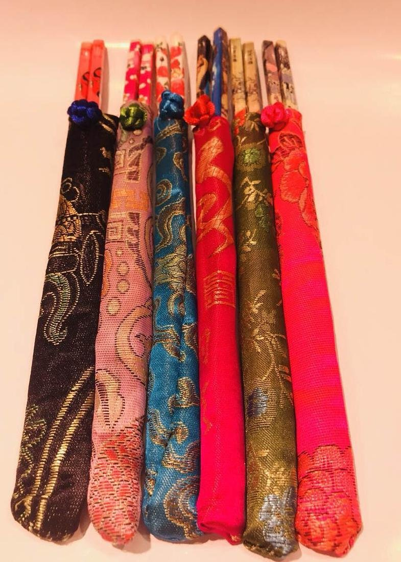 Embroidary packaged Six Pair of Chopsticks