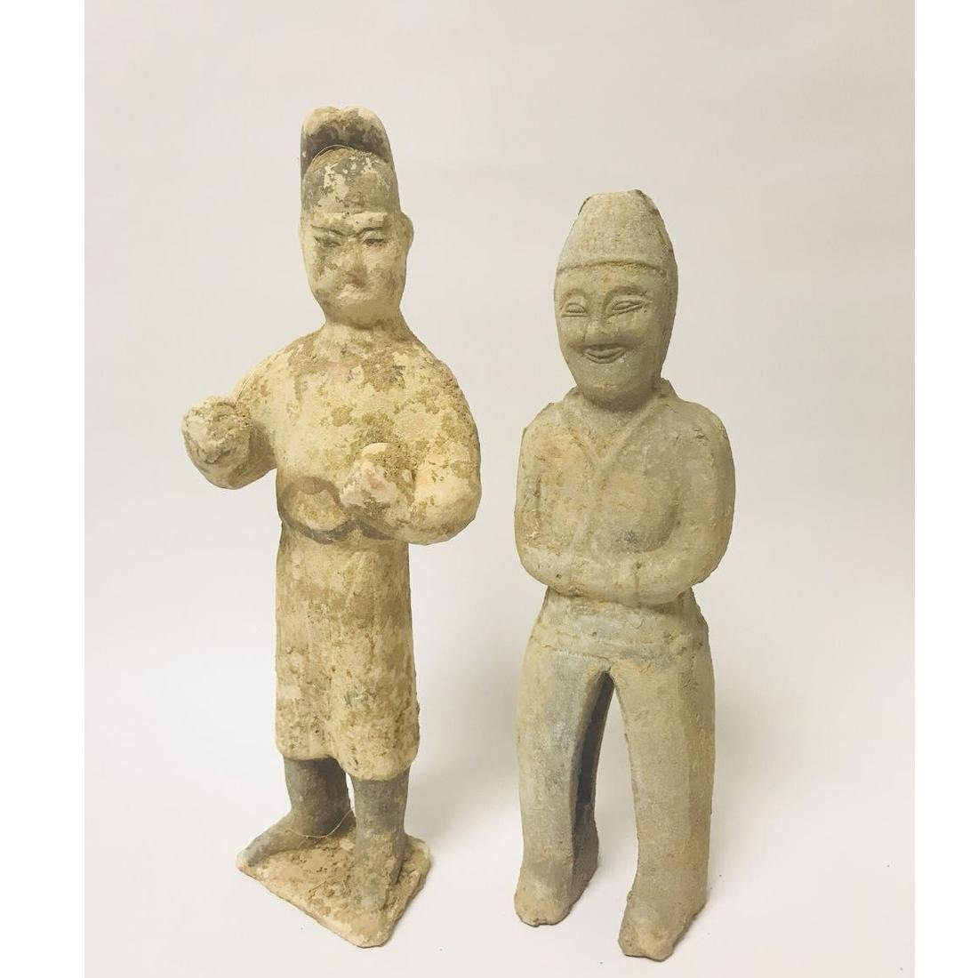 BeiWei Style Pottery Figures Pair