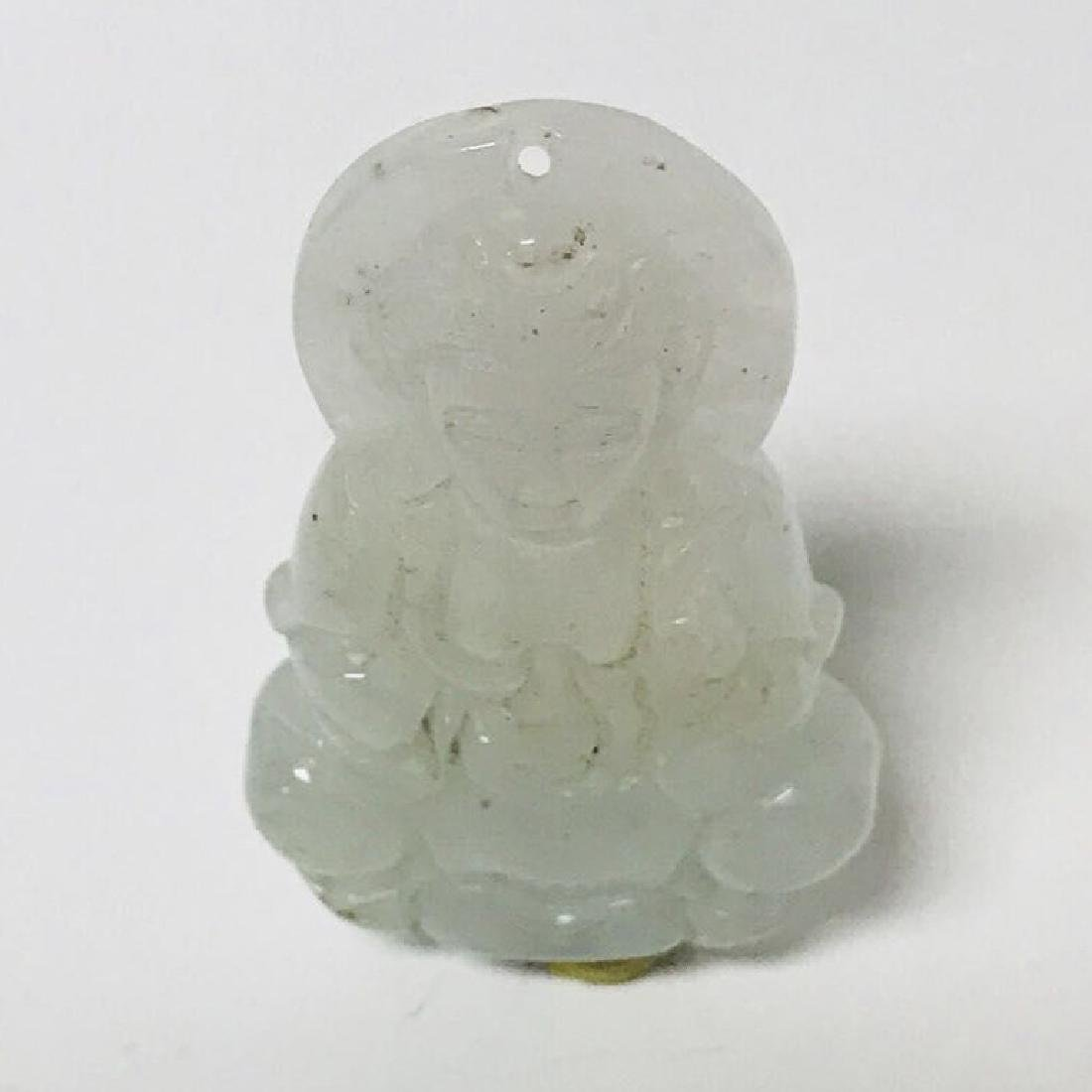 Natural Burma Icy Jadeite GuanYin