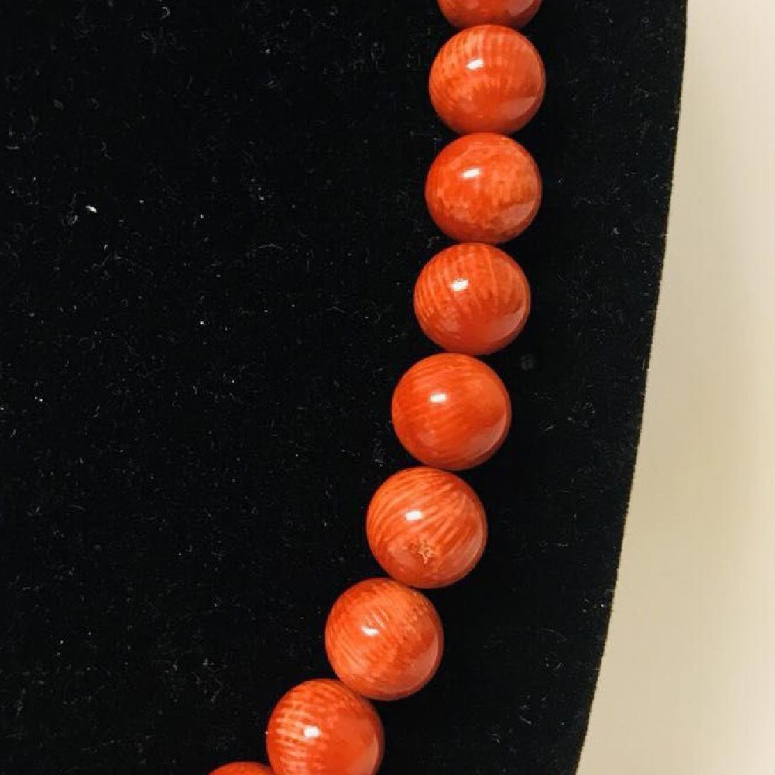Red Coral Necklace - 5