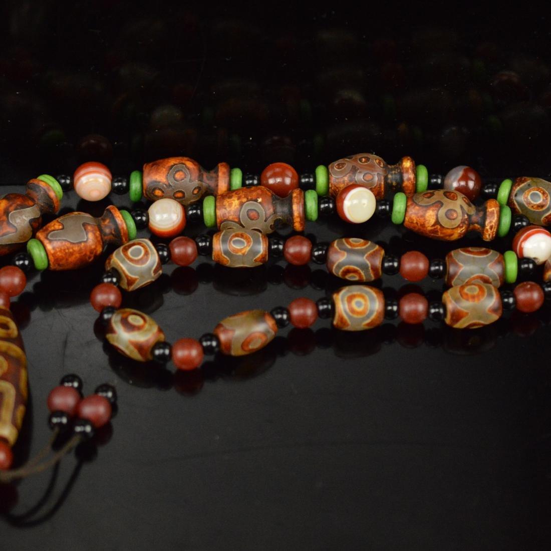 Nine Eyes DZI necklace