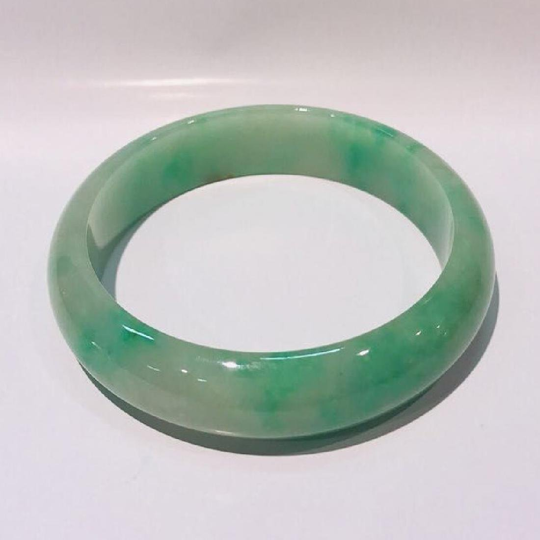 Certified Natural Burma Jadeite Bangle