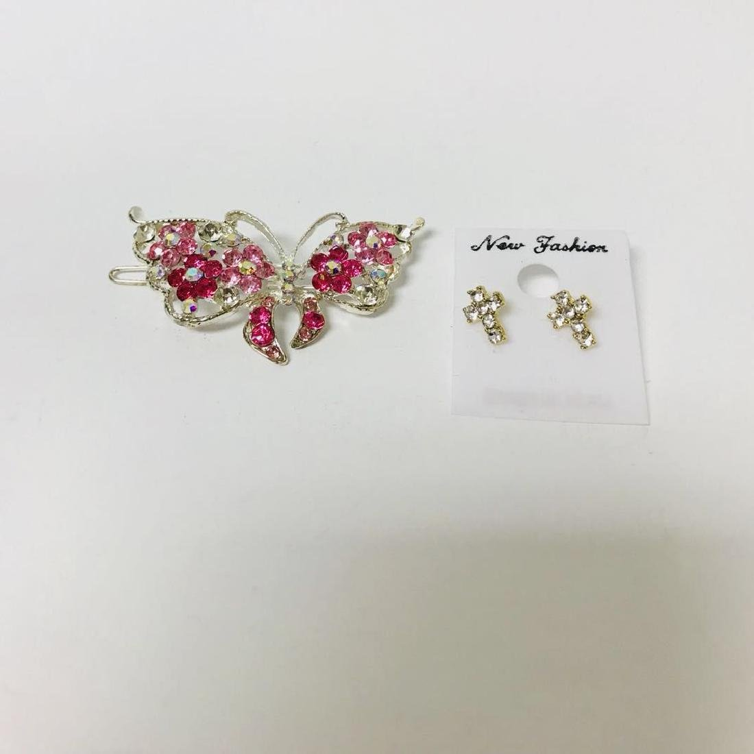 Butterfly Hair Clip and Earring Pair