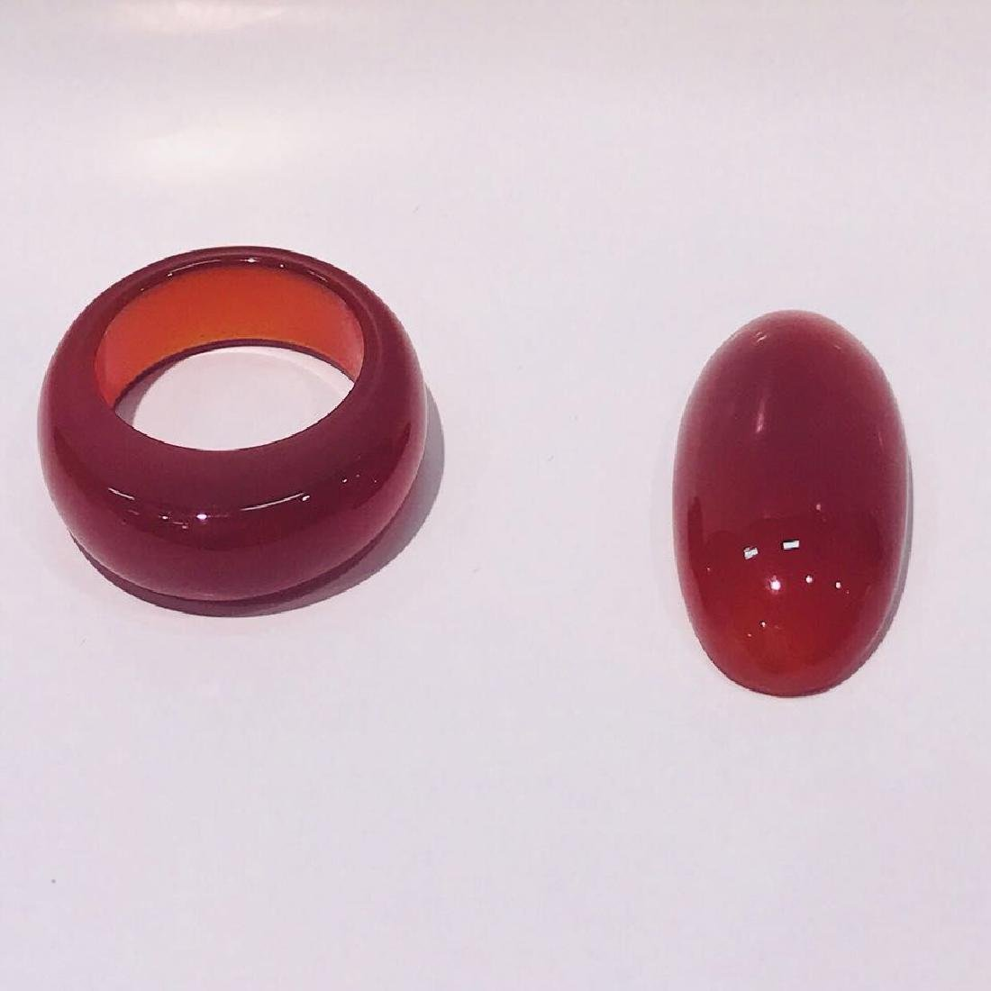 Agate ring and Agate egg piece