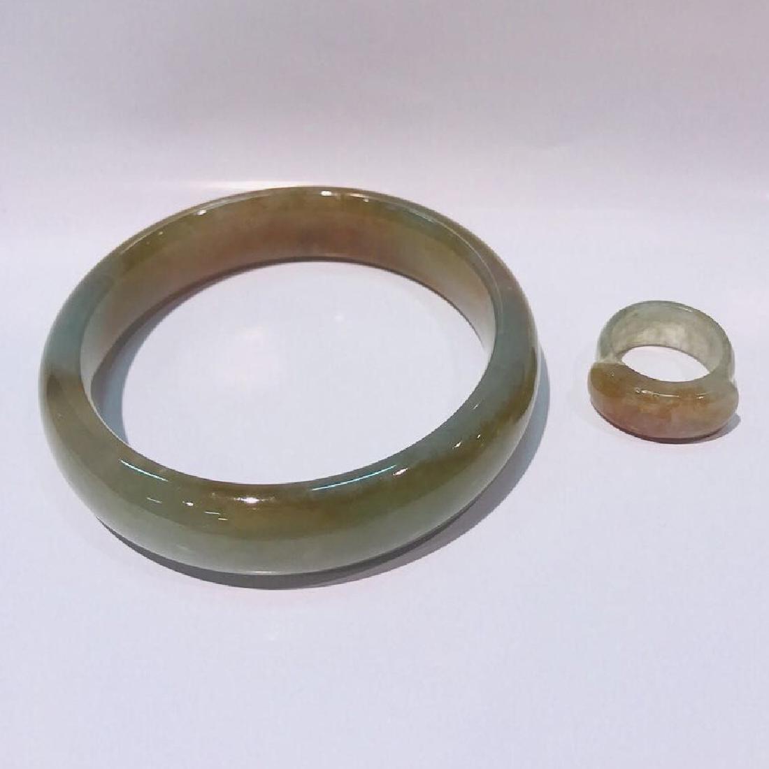 Natural Jadeite Bangle and Jadeite ring