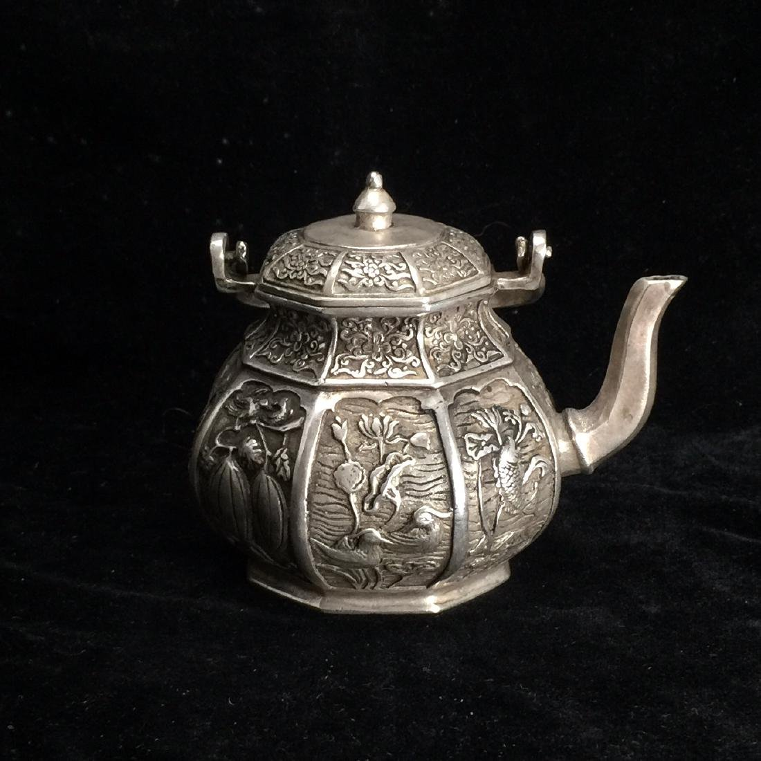 Tibetian silver style teapod