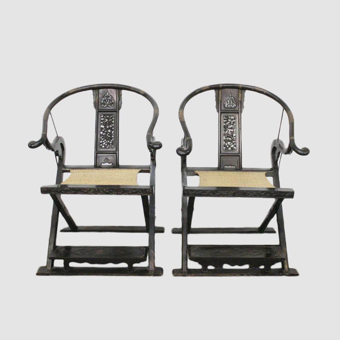 Very Old JiangJun Chairs Pair
