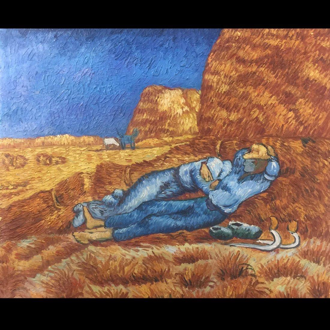 Farmer Oil Painting