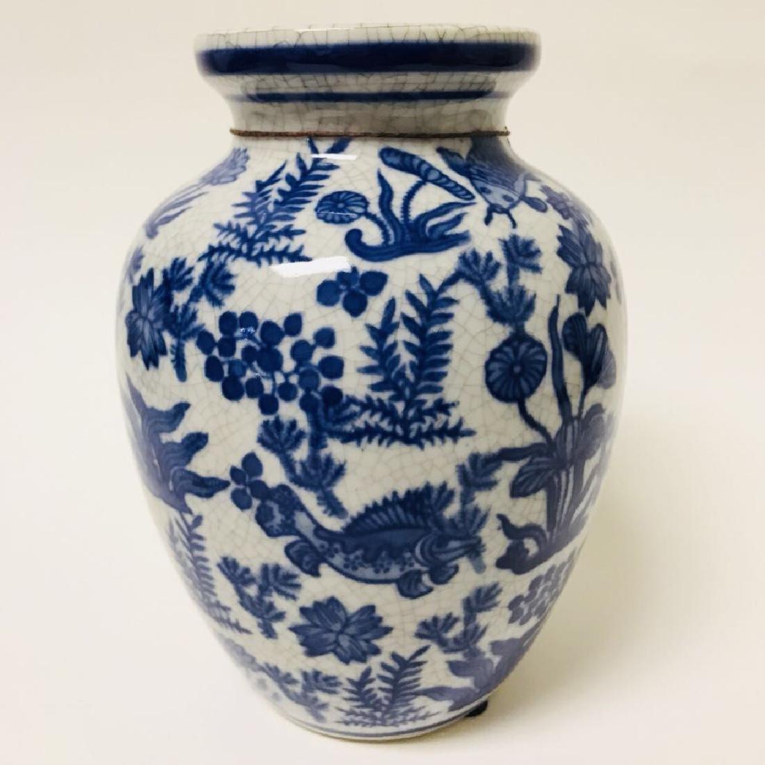 Blue and white Vase and Bone Style Vase - 2