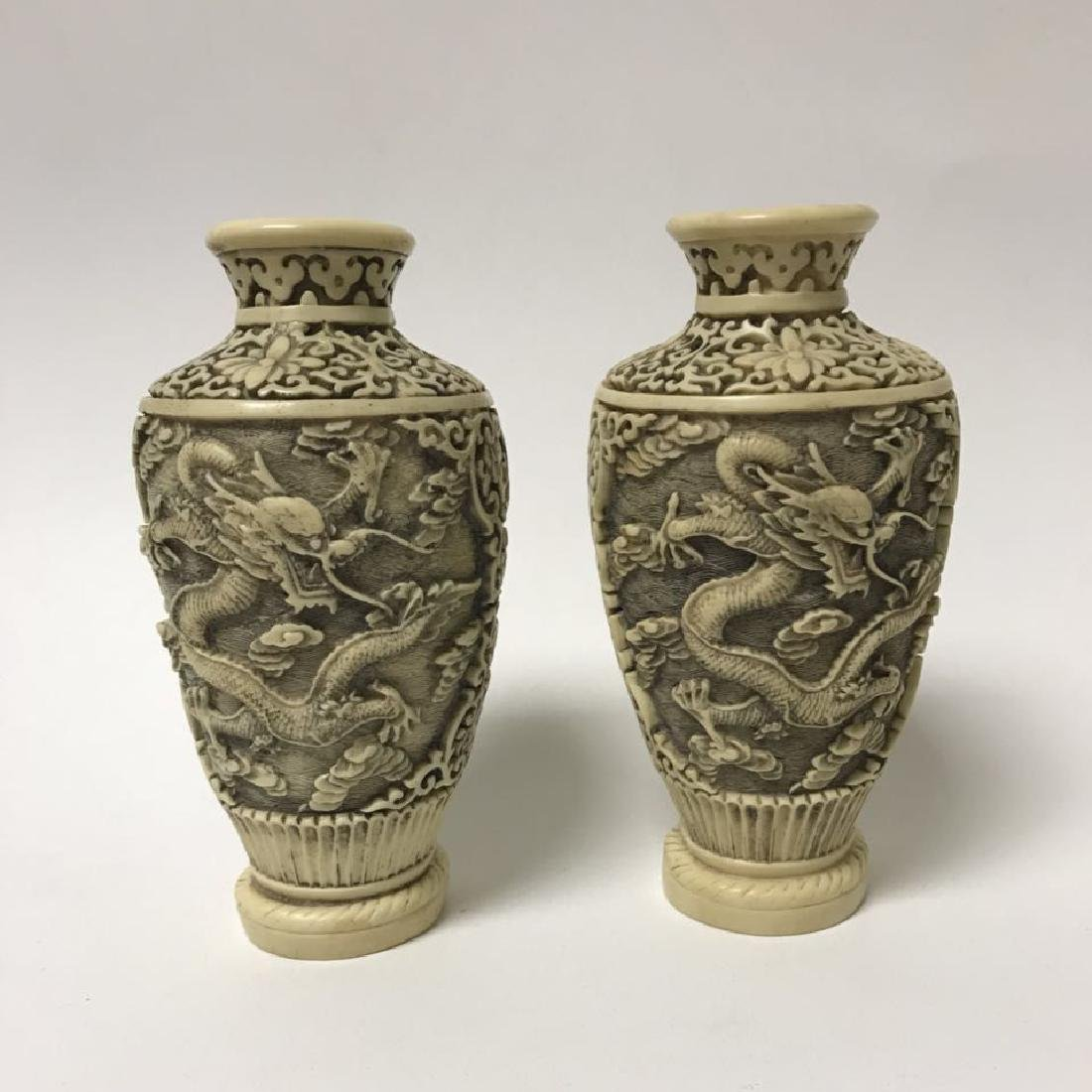 Blue and white Vase and Bone Style Vase - 6