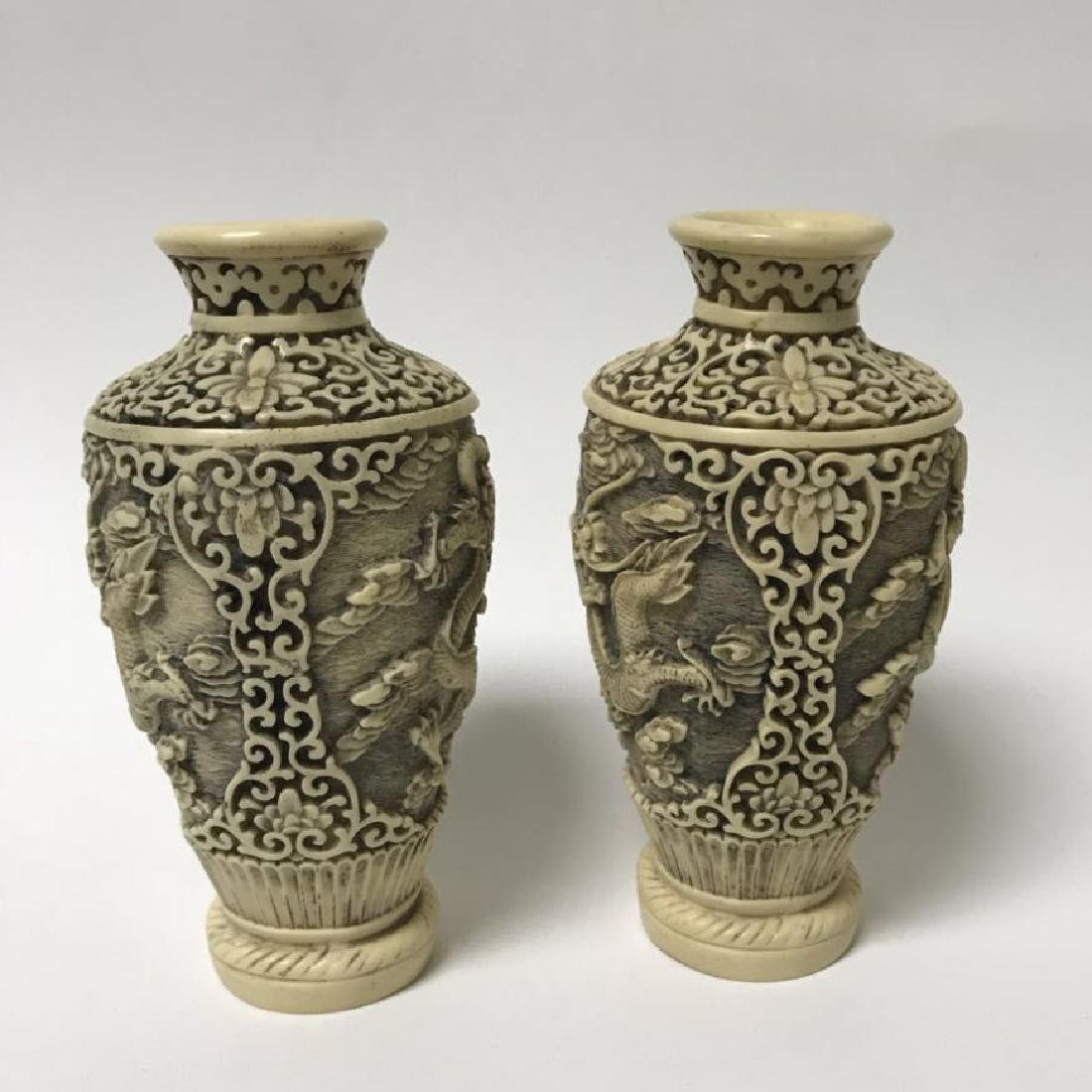 Blue and white Vase and Bone Style Vase - 7
