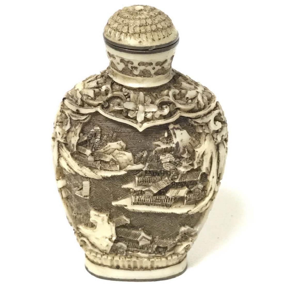 Cinnabar Snuff Bottle