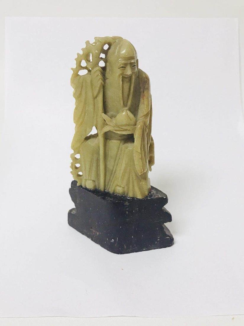 Soapstone Long Life God Statue