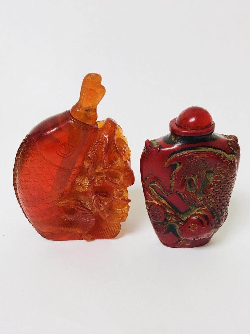 Two Snuff Bottles Fish Designs