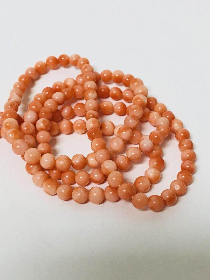 Natural Coral carve and Necklace