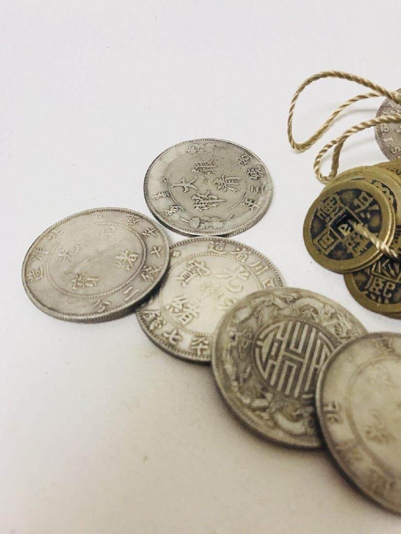 Pile of Old Coins and bronze Coin - 2
