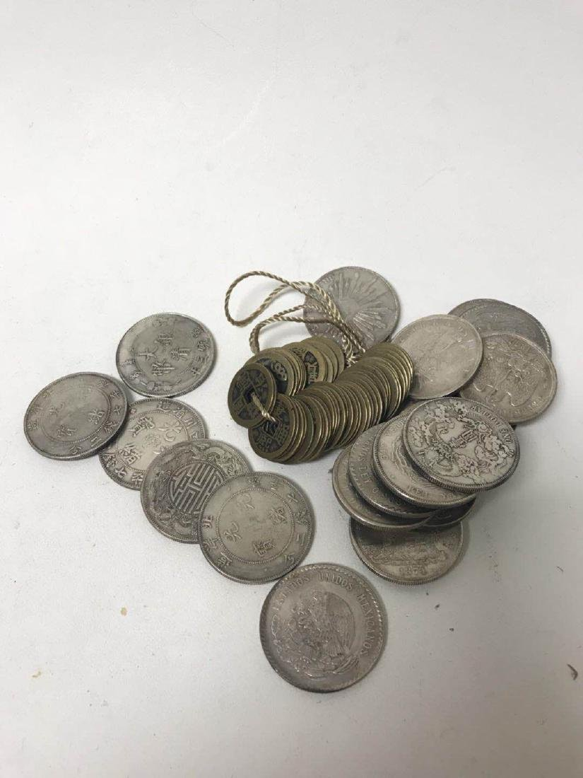 Pile of Old Coins and bronze Coin - 3
