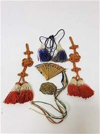 Qing Dynasty Tassel Rope Knot and Gold Gilted Lion