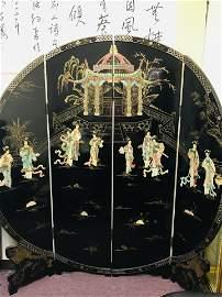 Old Gemstone-inlaid figue screen