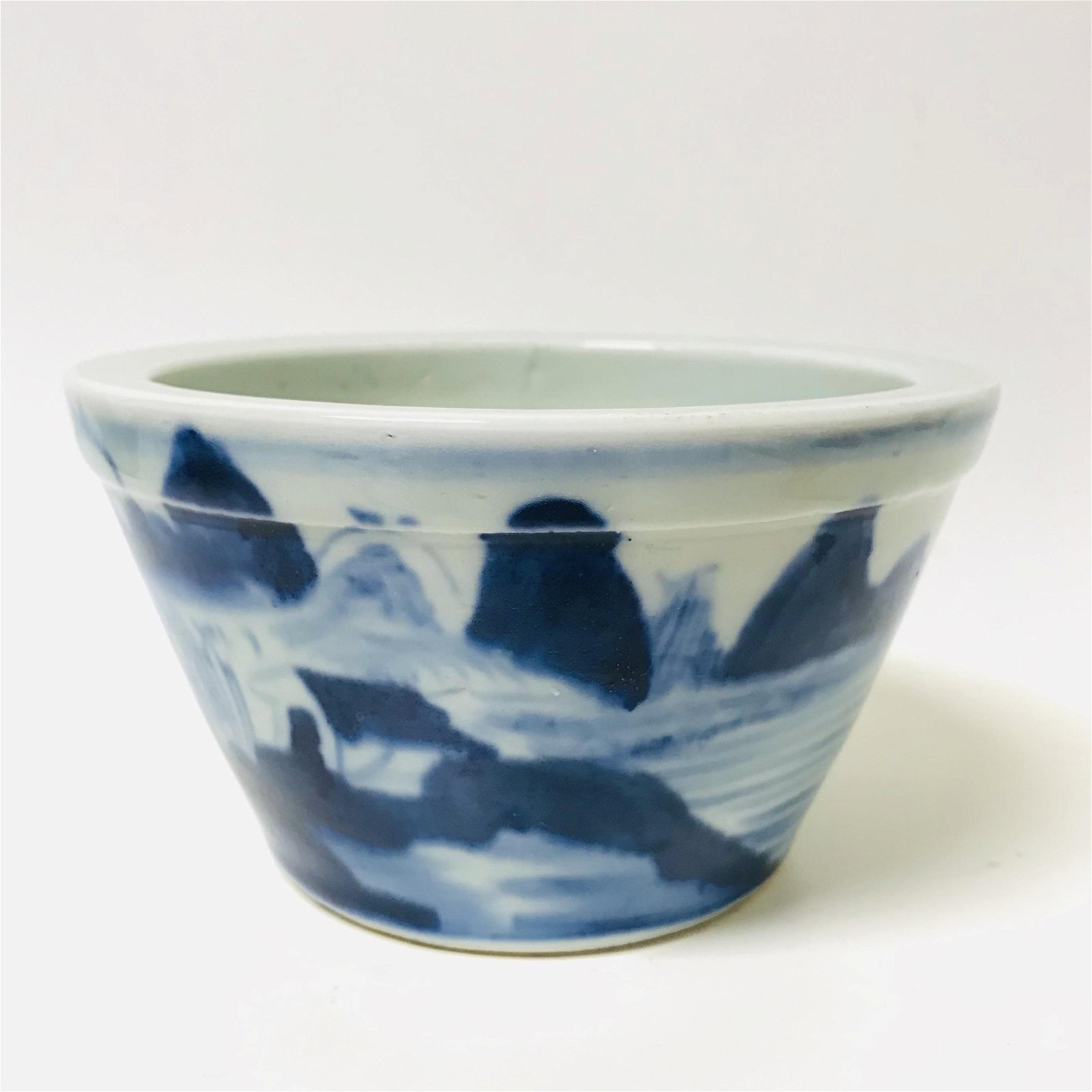 Qing dynasty blue and white porcelain, painting