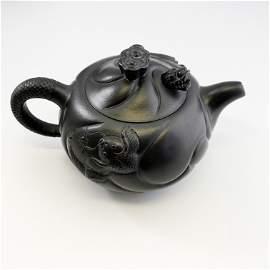 Exquisite Dragon Carving Zisha Teapot